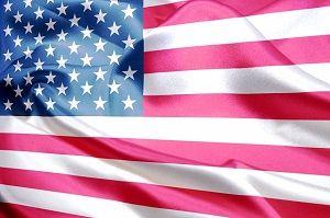 アメリカの国旗の写真