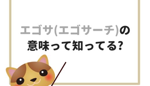 エゴサ(エゴサーチ)の意味とは?知っておきたいSNS用語を解説!!