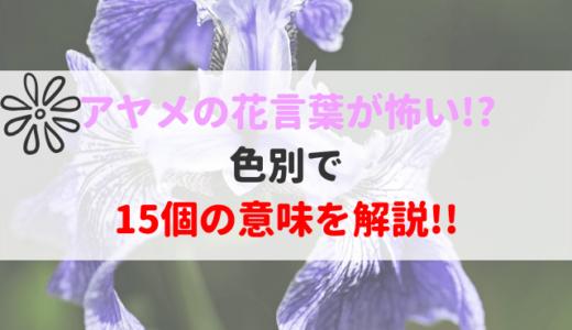 あやめ(菖蒲)の花言葉は怖い?白や紫の色別で意味が違う!?